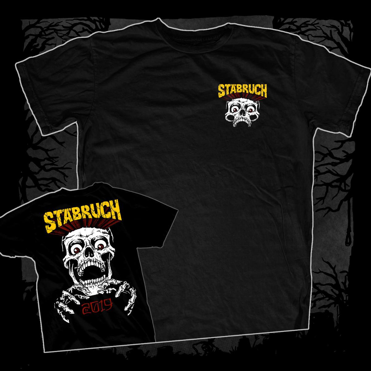 Stäbruch - 2019 [T-Shirt] (Farbe schwarz, Two-Sided-Print: weiß, gelb, rot)