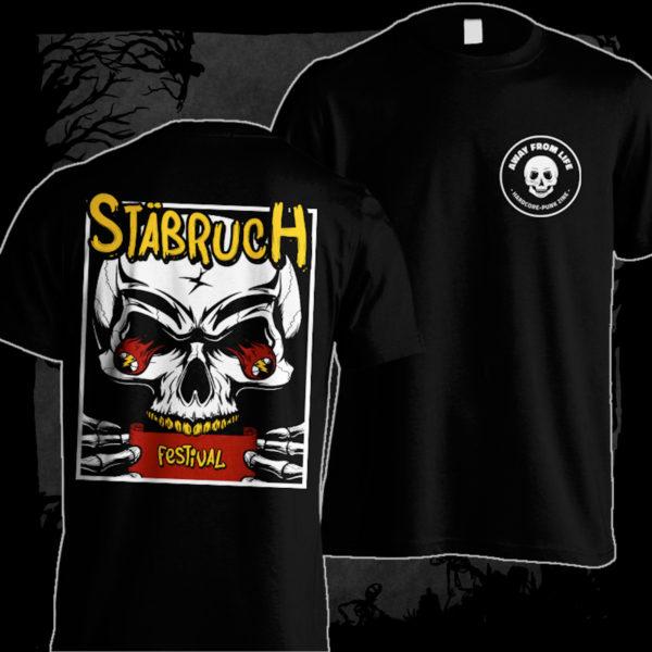 Stäbruch - 2018 [T-Shirt] (Farbe schwarz, Two-Sided-Print: weiß, gelb, rot)