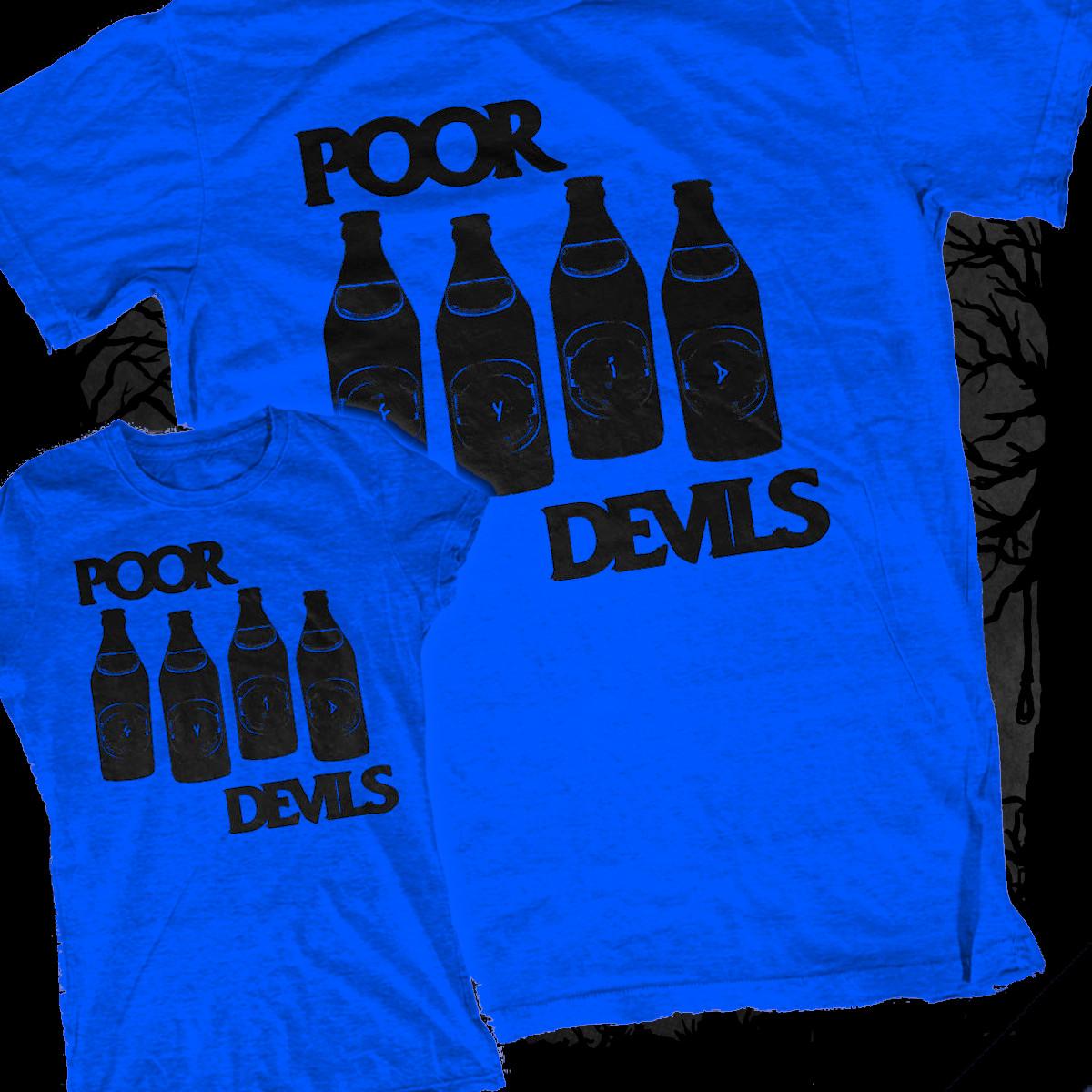 The Poor Devils - Black Flag Rip-Off [T-Shirt] (Farbe: blau | Print: schwarz)