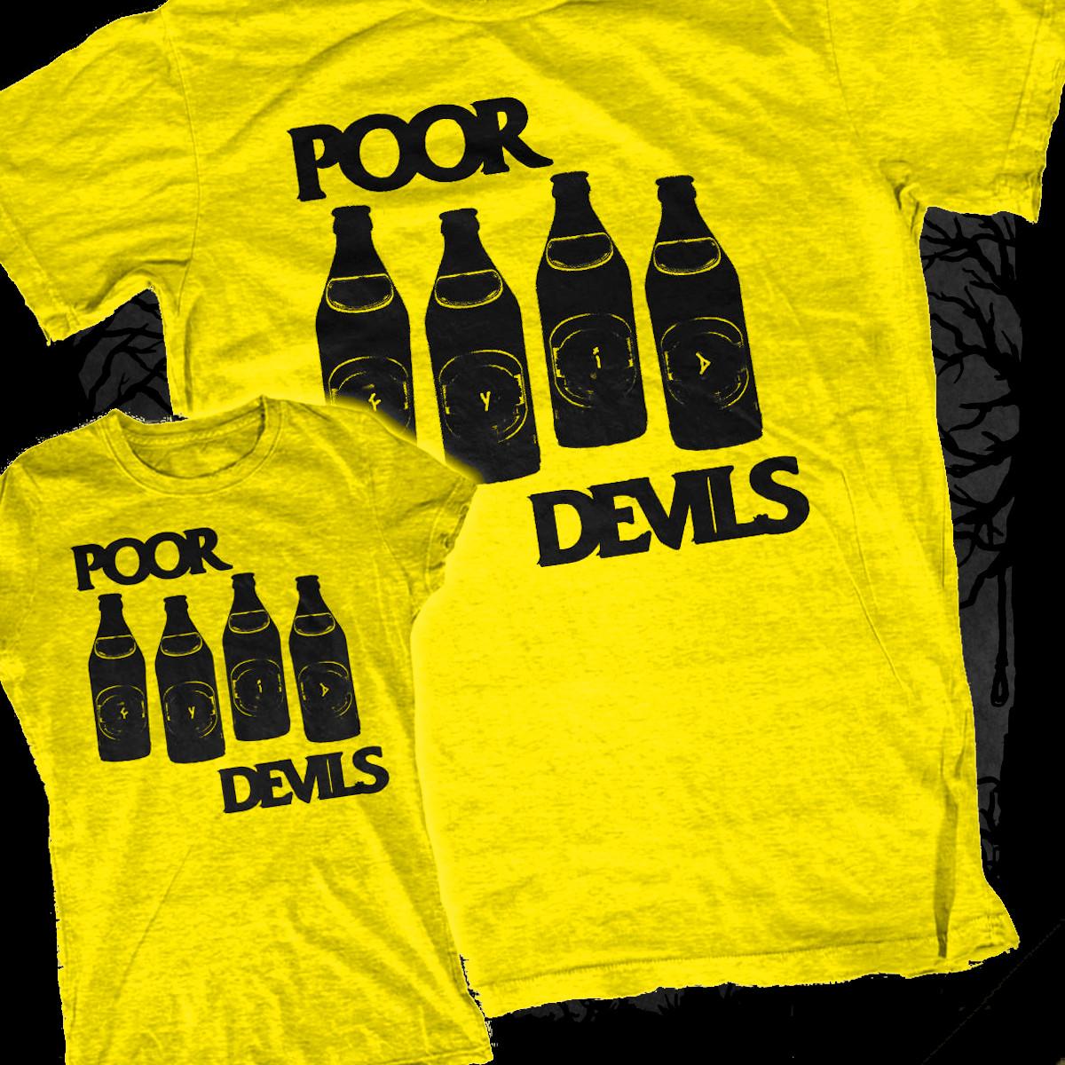The Poor Devils - Black Flag Rip-Off [T-Shirt] (Farbe: gelb | Print: schwarz)