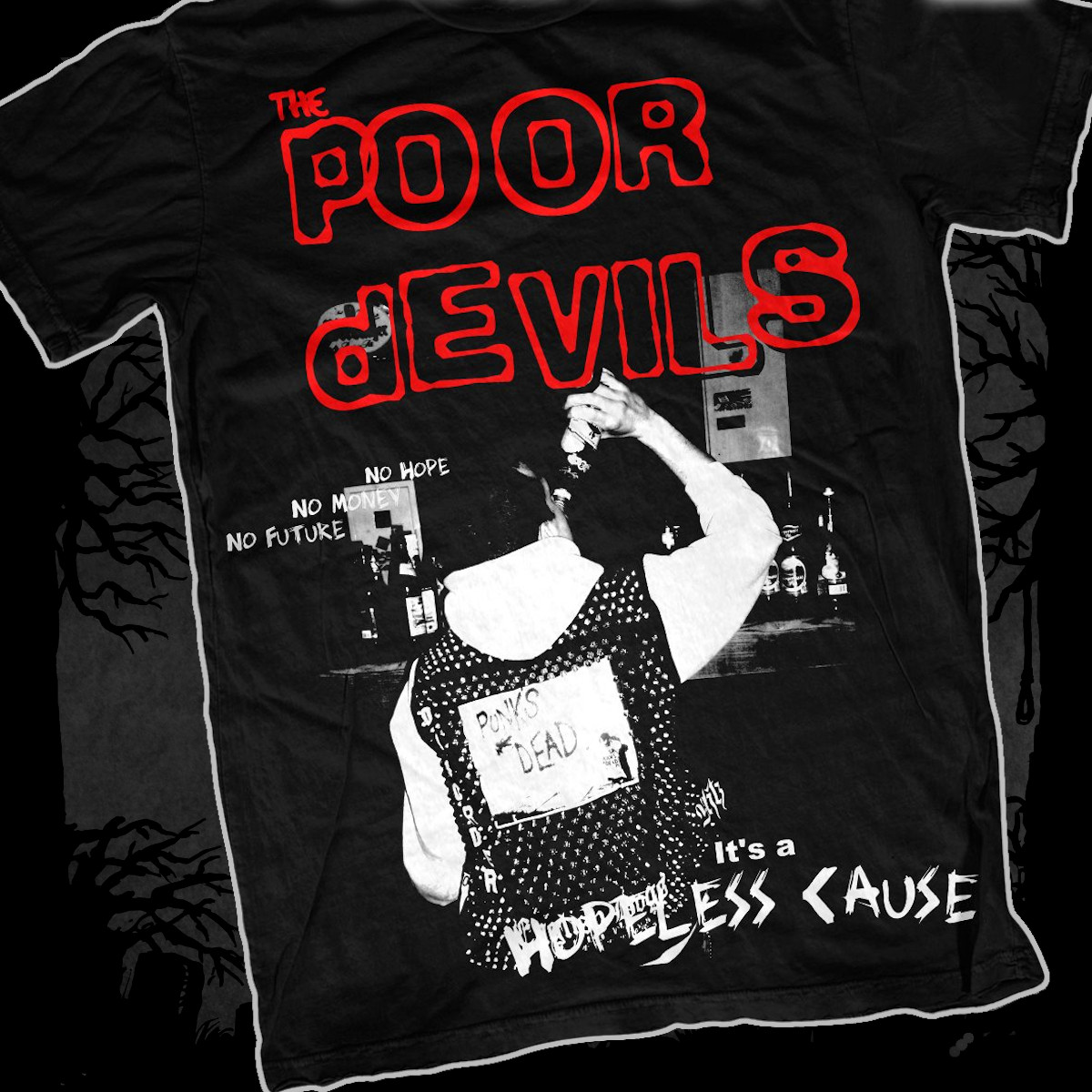 The Poor Devils - Hoepless Cause [T-Shirt] (Farbe: schwarz | Print: weiß, rot)
