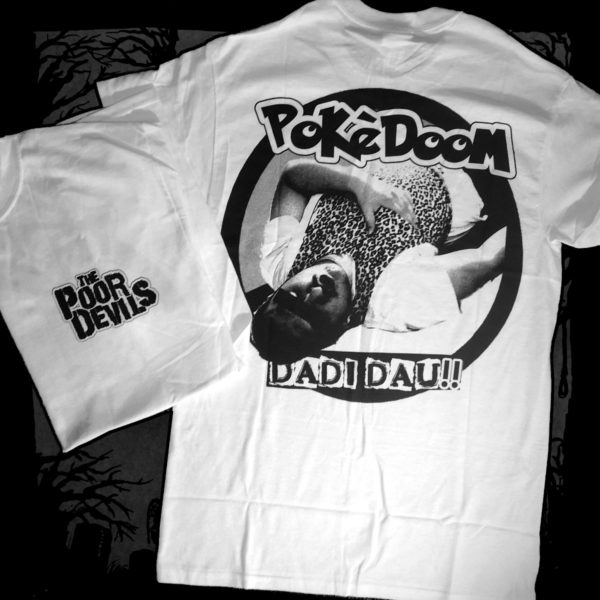 The Poor Devils - Pokedoom [T-Shirt] (Farbe weiß: | Two-Sided-Druck: schwarz)