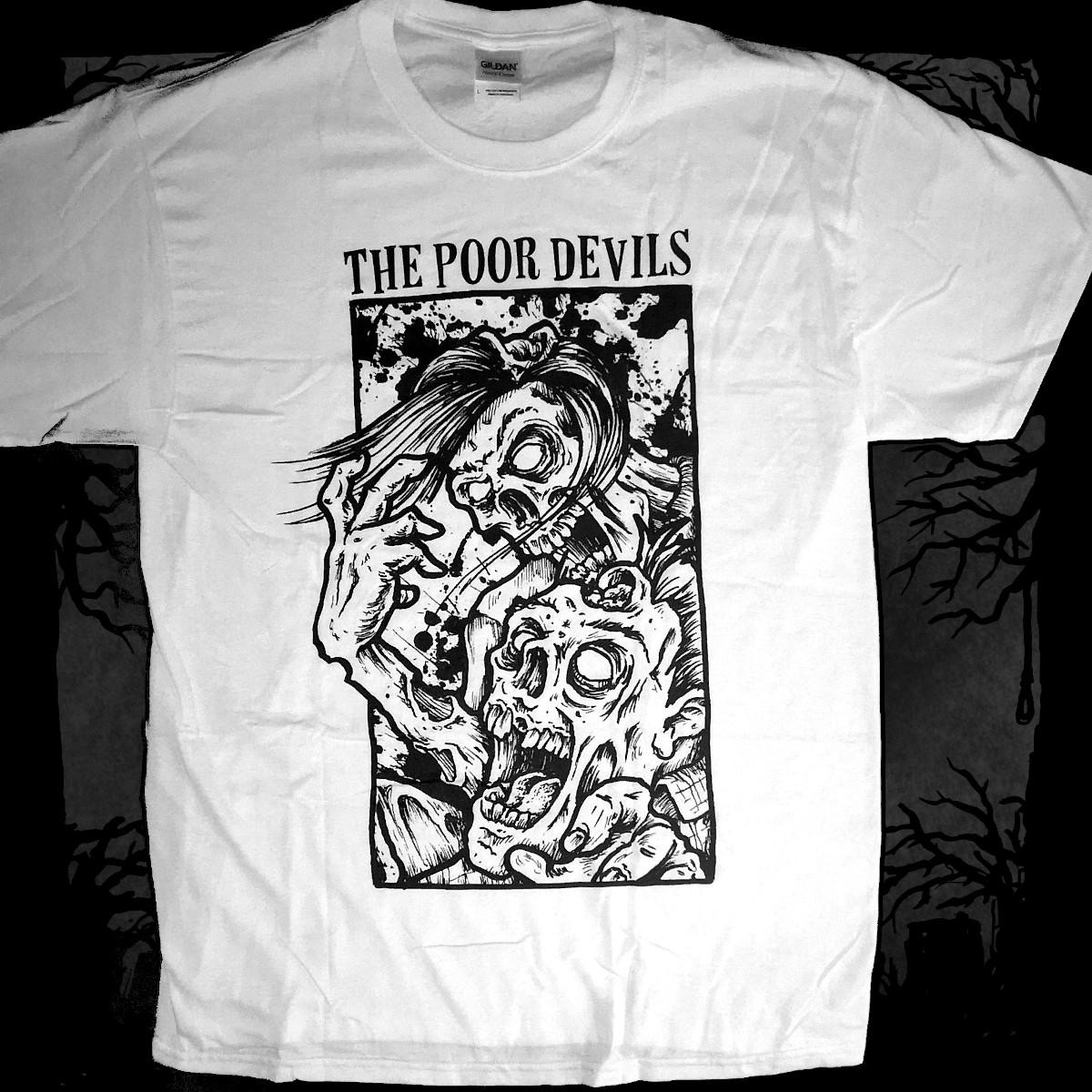 The Poor Devils - Skull [T-Shirt] (Farbe weiß:   Druck: schwarz)