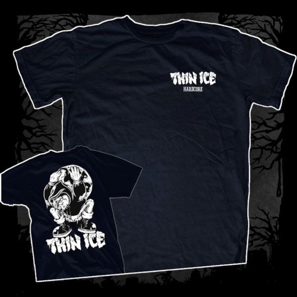 Thin Ice – Demo [T-Shirt] (Farbe: Navy Blau | Print: weiß)