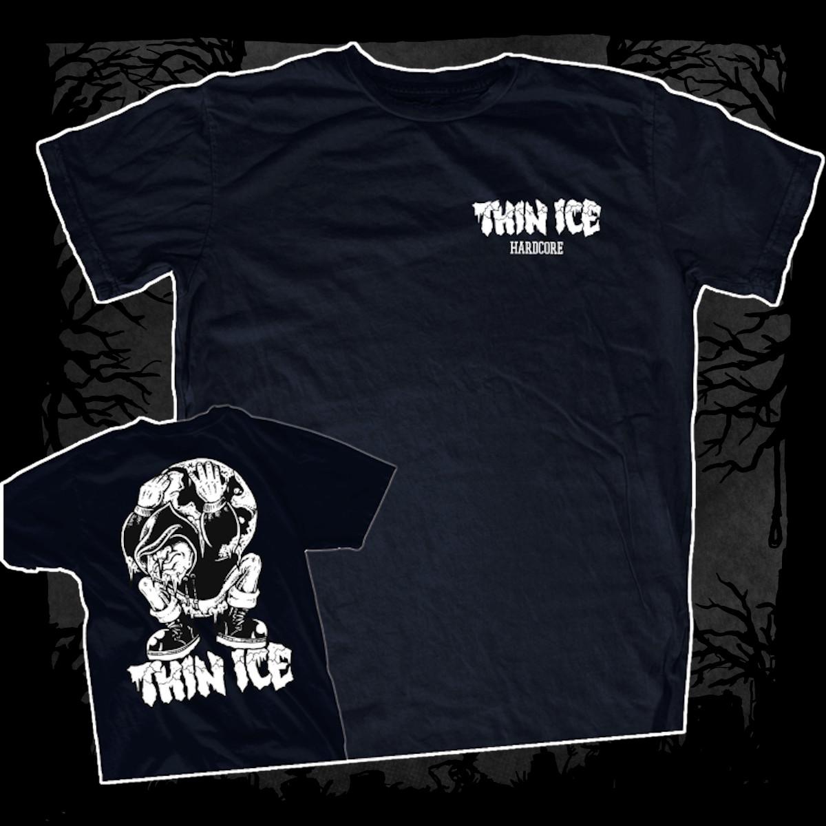 Thin Ice – Demo [T-Shirt] (Farbe: Navy Blau   Print: weiß)