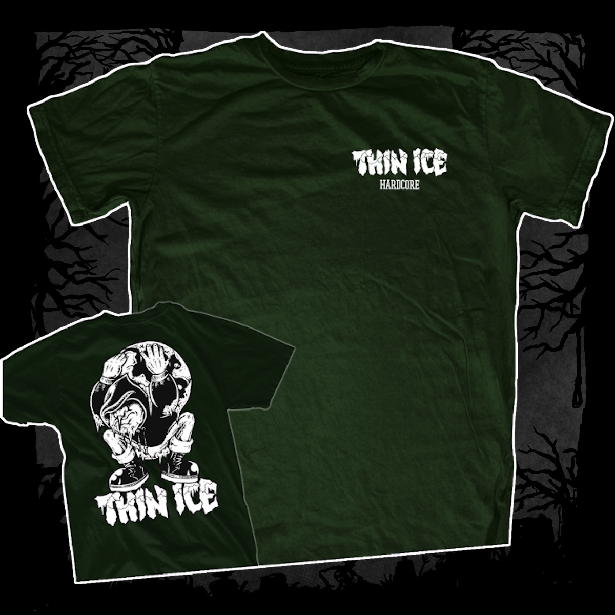 Thin Ice – Demo [T-Shirt] (Farbe: Woodgreen | Print: weiß)