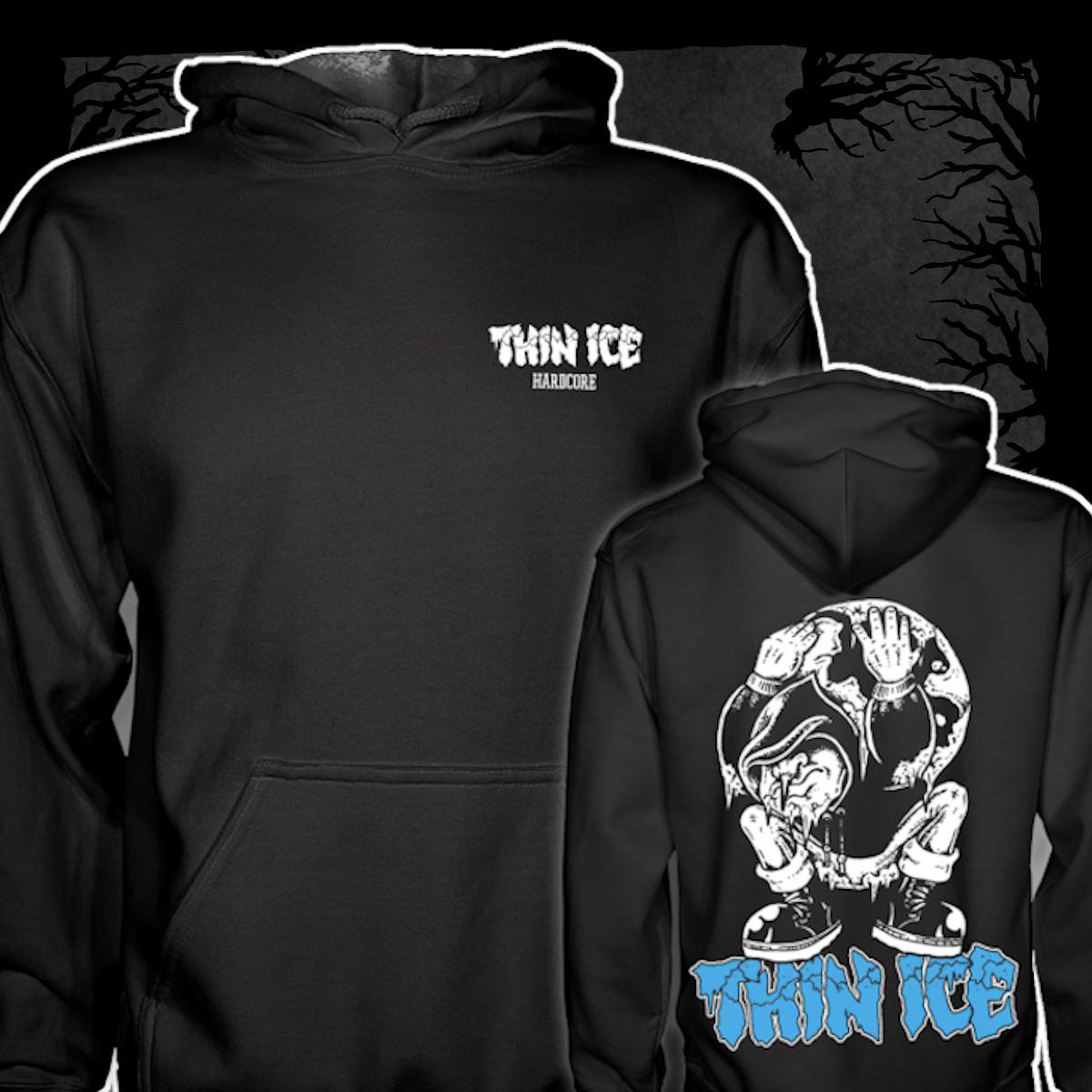 Thin Ice - Demo [Hoodie] (Farbe: schwarz | Two-Sided-Print: weiß, blau)