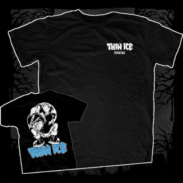Thin Ice – Demo [T-Shirt] (Farbe: schwarz | Two-Sided-Print: weiß, blau)
