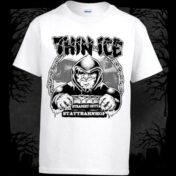 Thin Ice - Straight Outta Stattbahnhof [T-Shirt] (Farbe weiß: | Druck: schwarz)