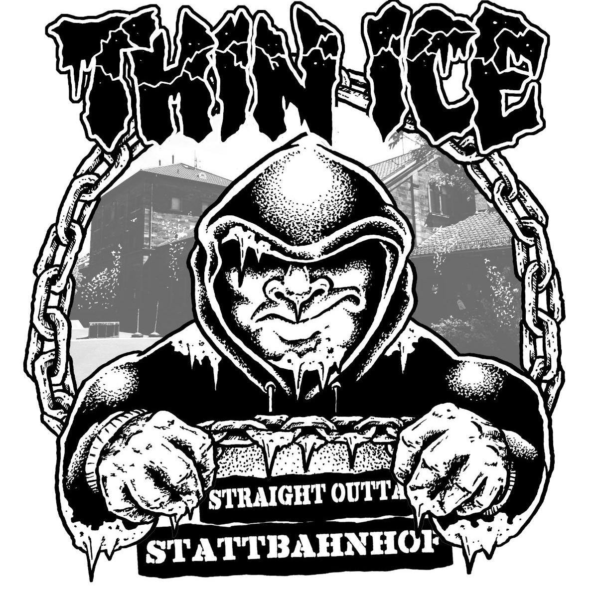 Thin Ice - Straight Outta Stattbahnhof [T-Shirt] (Artwork)