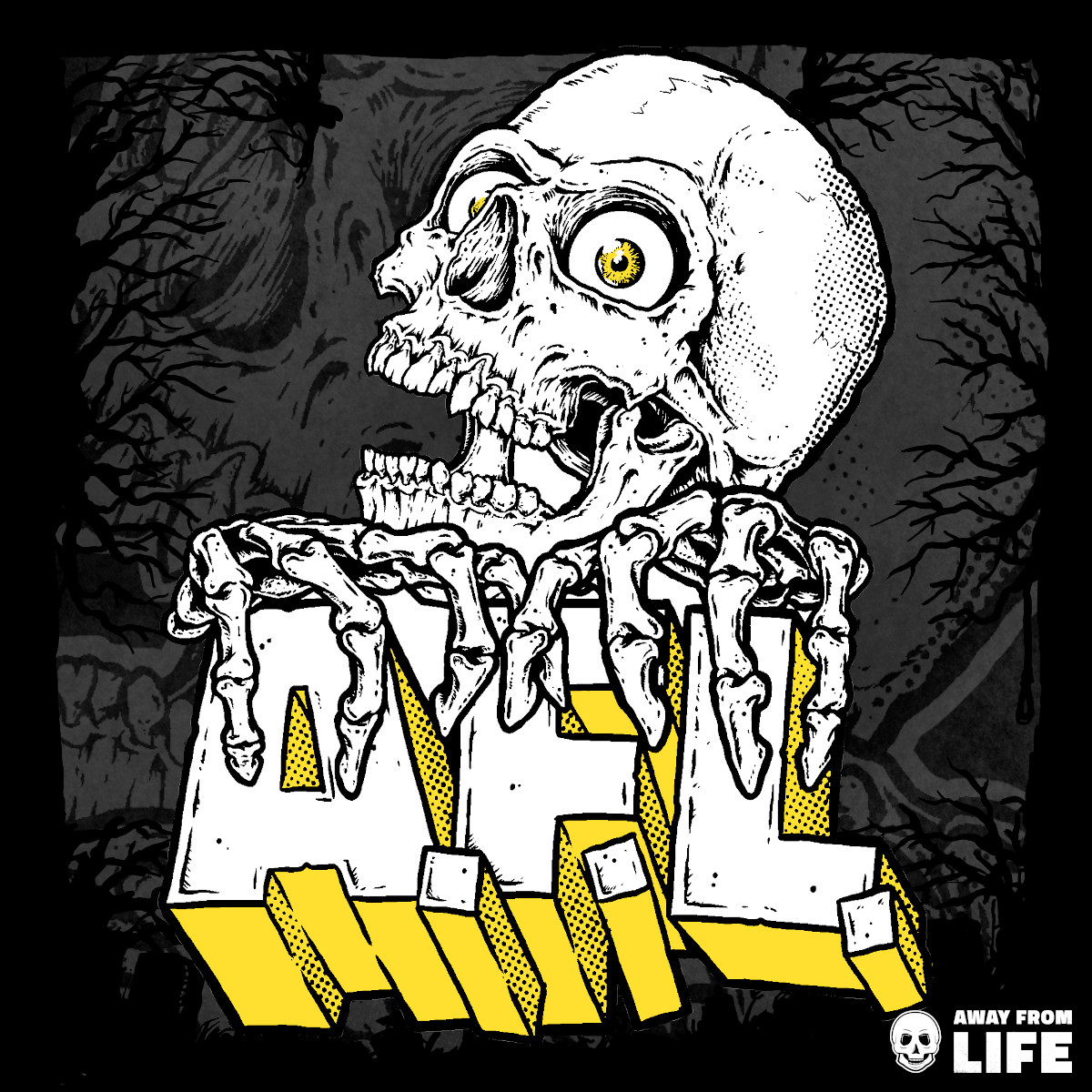AWAY FROM LIFE – Reaper [T-Shirt - Front-Print]
