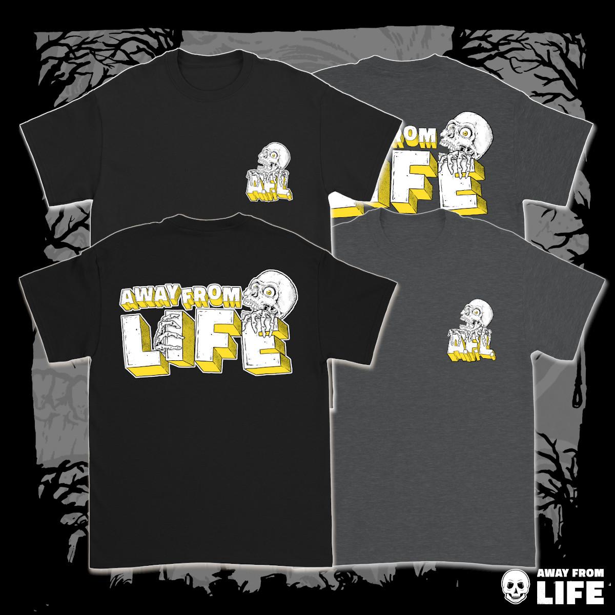 AWAY FROM LIFE - Reaper [T-Shirt, zweiseitig mehrfarbig bedruckt]