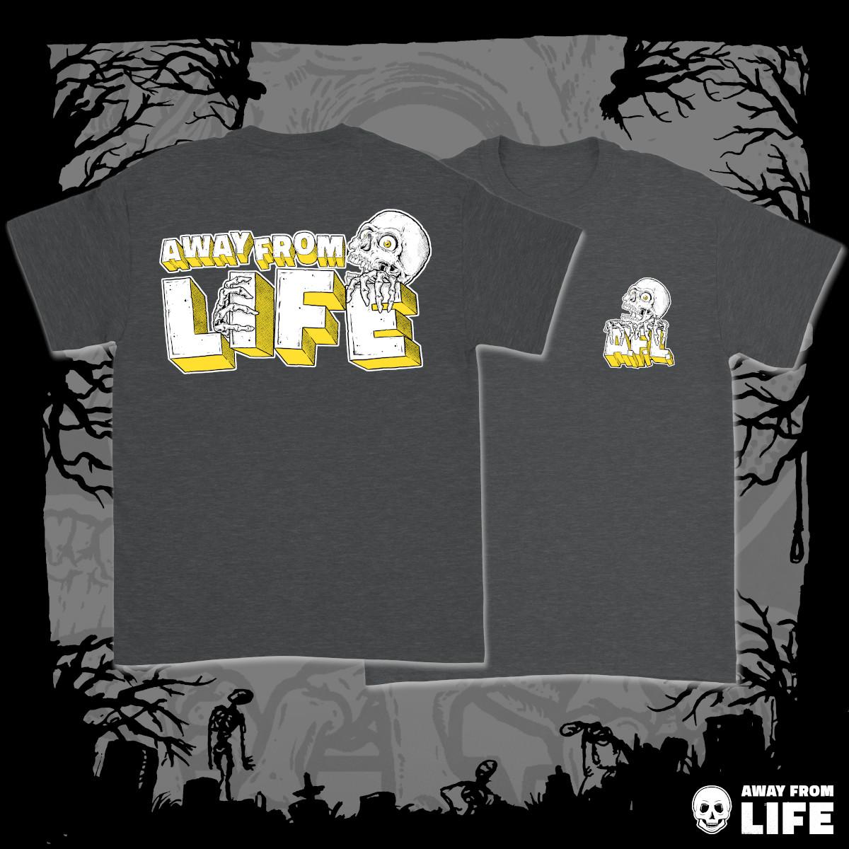 AWAY FROM LIFE - Reaper [dunklelgraues T-Shirt, zweiseitig mehrfarbig bedruckt]