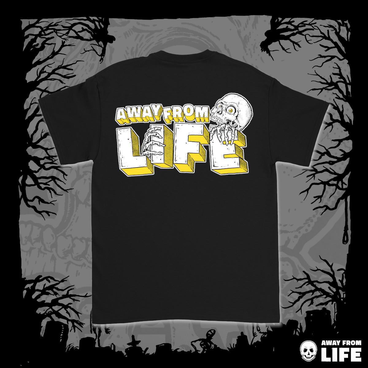 AWAY FROM LIFE - Reaper [schwarzes T-Shirt, Back]