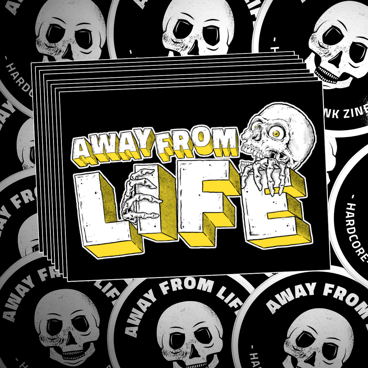 AWAY FROM LIFE - Sticker-Bundle [30 Aufkleber]